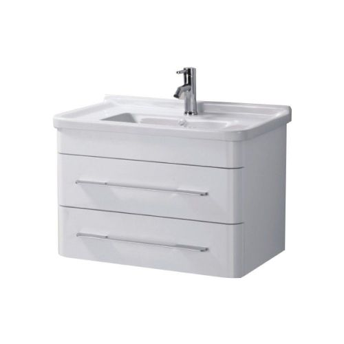 Eclipse 600mm Wall Hung Cabinet & Basin - 1 Tap Hole